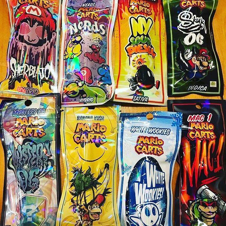 1g Banana Kush (Indica)- Mario Carts | Cannabis Menus By HTDC