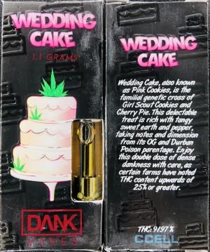 Dank Vapes Wedding Cake Cannabis Menus By Calicartconnect